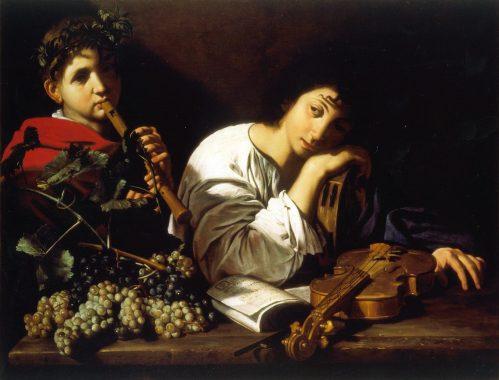 """Bartolomeo Cavarozzi, """"Il Lamento di Aminta"""", olio su tela, collezione privata"""